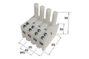 16 morsetti a leva da 12mm per misura 4 fili-a3elettronica.it